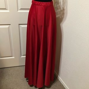 High waist, floor length dress